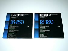 More details for 2 maxell ud 18-180 reel to reel professional recording tapes - 1100m 3,600ft
