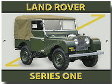 LANDROVER SERIES 1 METAL SIGN.VINTAGE 4X4 LAND ROVER.4X4 OFF ROADING.ARMY,FARM