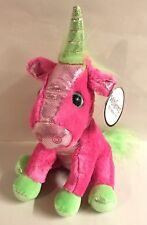 "New Winkeez Pink 10"" Unicorn Stuffed Animal Plush Sparkle Stuffed Animal Toy"
