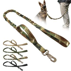 Militare Tattico Guinzaglio Addestramento per cani Taglia Grande Elastico Nylon