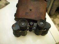 Jumelles 1erWW MARQUéE 1915 BAUSCH ET LOMB (ROCHESTER USA)BRITISCH ARMY 14/18