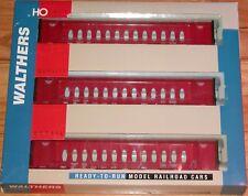 WALTHERS 932-34104 72' CENTERBEAM FLAT CAR 3-PACK CSX OPERA RED CSXT