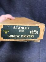 Lot Of 5 Vintage 2502 Hard-face Stanley No. 2 Phillips Screwdrivers In  Box NOS