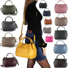 04ff6552b3741 Leder Tasche Hand Schulter Umhänge Tasche Beutel Italy Hobo Bag Shopper A78  NEU