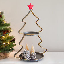 Two -Tier Metal Christmas Tray