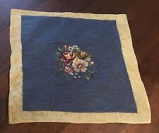 """Floral Hand EmbroideredNeedlepoint  Canvas size 13 x 13"""""""