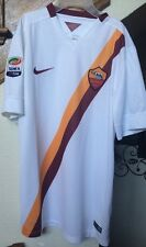 New Nike Serie A Italy 16-17  La Roma Jersey White Size M NWT Serie A Patch