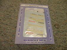 Microscale decals N 60-4177 Cape Cod RR locomotives passenger cars D33