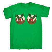 Funny T Shirt - Xmas Pudding Boobs - Birthday Joke tee Gift Novelty T-SHIRT