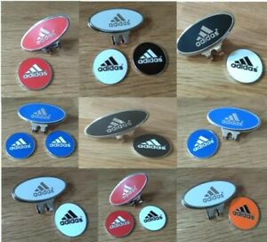 Adidas golf ball marker with integrated magnet : also as marker & hat clip sets