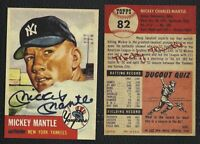 LOT of 25 REPRINT 1953 Topps #82 MICKEY MANTLE with Autograph Yankees HOF
