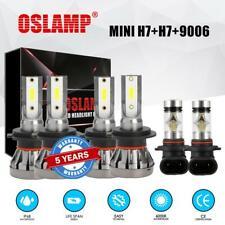 H7+H7+9006 Combo LED Headlight High Low Beam + Fog Light Bulbs White 6000K Xenon