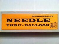 NIB VINTAGE MONDO MAGIC TRICK ( NEEDLE THRU - BALLOON )