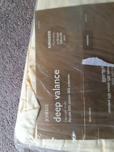 Brand NEW deep Valance 40cm Drop KINGSIDE  5ft 150cm BED primprose YELLOW