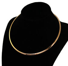 Stainless Steel Shiny Gold Open Choker Collar 4mm Unisex Fashion Necklace Chain