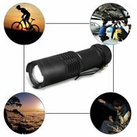 600LM Q5 LED Flashlight Zoomable Hand Light Waterproof Adjustable Torch Lamp US