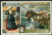 Arabic Language Used In Calabria Italy  Langue Arabe 1920s Trade Ad  Card