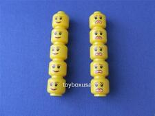10 New Lego City Town Girls Minifig Double Head Bulk Lot Set