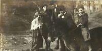 Coal Miner Family Posing with Pony Horse Appalachia Kentucky Antique Photo