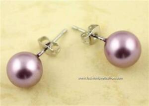 1 Pair Pierced Faux,Imitation Pearl Round Stud Earrings Multi Colors to Choose