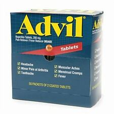 Advil Ibuprofen, 200mg (50 Packets of 2 Coated Tablets)