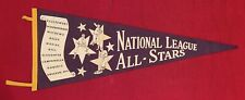 Vintage 1955 National League Baseball All Stars Pennant Antique Early Musial