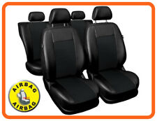 Car seat covers fit Toyota Avensis - full set black leatherette