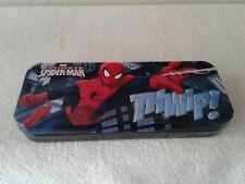 The Amazing Spider-Man Tin Catch All Pencil Case Style A, NEW UNUSED MARVEL 2014