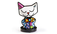 ROMERO BRITTO BOBBLE HEAD CAT FIGURINE