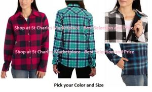 Orvis® Women's Fleece Lined Plaid Shirt Jacket, Pick your Color and Size, NEW!!