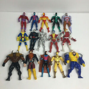 X-Men MARVEL Action Figures 15-Toy Lot 1990s Toy Biz SILVER SURFER GAMBIT *USED