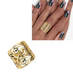 Damen Ring 585 echt Gelbgold 14 Karat ohne Stein 9,4 g 20 mm breit  54 56 58 60