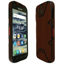 Skinomi Dark Wood Skin+Clear Screen Protector for Kyocera DuraForce PRO