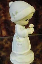 """Precious Moments #524166 """"May Your Christmas Be Merry"""" 1991 Dated-Figurine- Nib"""