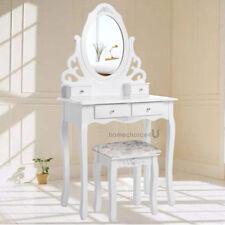 Specchiera Tavolino Consolle Con Specchio Cassetti Shabby Chic Cassettone Bianco