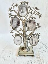 """Hallmark Carr Frames FAMILY TREE PHOTO PEWTER 10 PICTURE FRAME 8"""", preowned"""