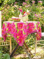 April Cornell Tablecloth Daydream Collection NWT 100% Cotton Fuchsia 54x54