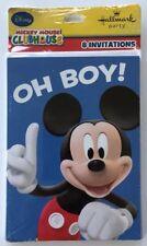 +Mickey Mouse Birthday Party Invitations Hallmark Disney *NIP!*