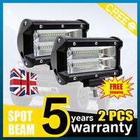 4X 144W 4D LED Work Light Bar Spot Flood Offroad Roof Driving Lamp Truck Car