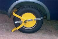 Car,Van,Trailer Caravan Security Anti Theft Full Face Wheel Tyre Clamp Lock SWWL