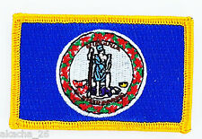 Ecusson Brodé PATCH drapeau VIRGINIE Virginia USA FLAG EMBROIDERED