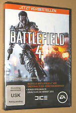 """Battlefield 4 preorder box xbox 360 PC PS3 New & Sealed """"NO GAME INCLUDED"""""""