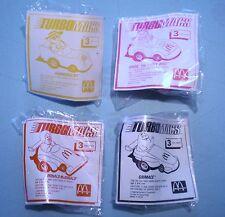 McDonalds 1990    Turbo Macs    Complete Set of 4 MIP