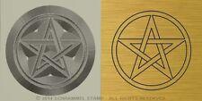 #R16 WICCAN PENTACLE Religious PAGANISM Steel HAND STAMP Gold Jewelry Metal Die