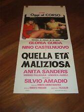 LOCANDINA, S/5,QUELLA ETA' MALIZIOSA GLORIA GUIDA CASTELNUOVO AMADIO SEXY