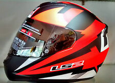 LS2 Helmets - FF352 - Dyno Black Red - Full Face Imported Motorcycle Helmet