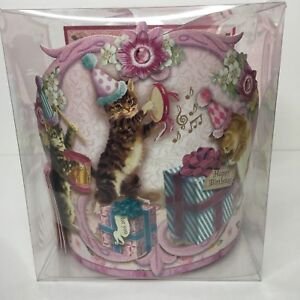 Happy Birthday Musical Cats Victorian Themed Paper Crowns Set of 12 Kids Party