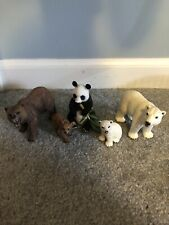 schleich grizzly bear polar bear panda lot of 5 used RETIRED