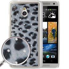 HardCase Bling Leopard Style für HTC One Mini (M4) in blau schwarz Etui Hülle