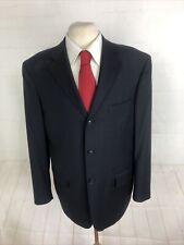 Pronto Uomo Men's Black Blazer Plaid Wool Blazer 45R $415